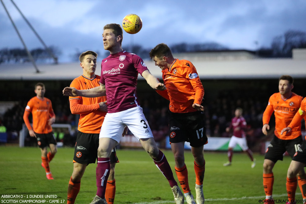 Arbroath 0 - 1 Dundee United - Colin Hamilton heads the ball back - 44th minute copy.jpg